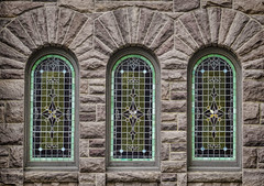 stained glass (Mark Chandler Photography) Tags: street door city windows urban color colour building church window glass statue architecture canon photography photo al birmingham theater theatre south stock alabama stainedglass streetscene southern 7d markchandler