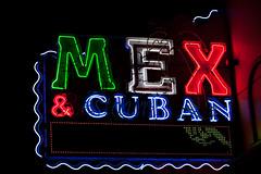 Mex & Cuban (Jeremy Brooks) Tags: usa restaurant neon lasvegas nevada fremontstreet ampersand clarkcounty