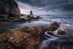Portizuelo (Asturias, Spain) (Hawranekk) Tags: sunset beach atardecer mar spain rocks long exposure outdoor sigma asturias playa shore 1020 cantabrico portizuelo