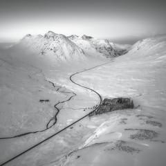 The pass of Glencoe (Roksoff) Tags: winter snow mountains ice water landscape outdoors scotland frozen glencoe thethreesisters rannochmoor scottishhighlands buachailleetivemor devilsstaircase lochba a82 blackmount meallabhuiridh leefilters beinnachrulaiste lochanachlaise criese nikond810 1635mmf4 lochanstainge buachaillleetivemor