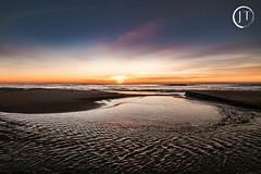 Sunrise LBI NJ (jesse_tomasello) Tags: ocean beach sunrise canon landscape island eos sand nj lbi longbeachisland 5d ultrawide hdr 14mm rokinon rokinon14mmultrawide