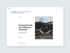 Travel blog: Pt 03  Iceland (ijstheedribbble) Tags: inspiration apple design tv graphic screensaver popular dribbble iftt