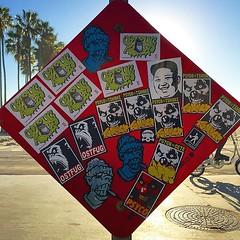 Venice Beach, California (PSYCO ZRCS 10/12) Tags: california street venice art beach sign graffiti los sticker stickerart angeles stickers vinyl worldwide slap grilled tagging psyco bombing combo slaps stickerculture stickerporn stickerlife tsmoke