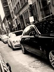 So...Rolls, Bentley, Rolls...Ferrari are you here? (williamw60640) Tags: chicago 1 rollsroyce ferrari bentley streeterville rollcall classicauto luxuryauto 1percent streetlightpoles highendauto perillolamborghini