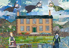 Haworth Visitations (Amanda White Art) Tags: art collage plath woolf brontës haworthparsonage