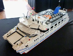 Queenscliff-Sorrento Car Ferry (LonnieCadet) Tags: road rescue car ferry port fire bay town lego australia victoria helicopter phillip sorrento queenscliff moc 2016 queenscliffe brickvention lonniecadet bv16