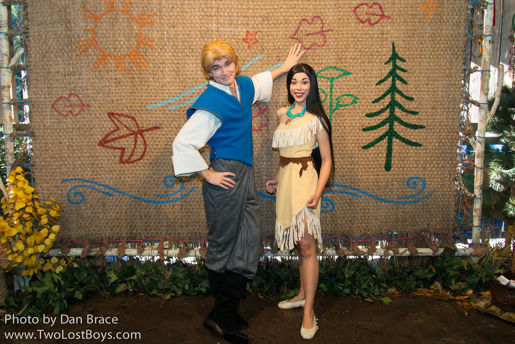 Pocahontas and John Smith  Enchanted Glade Magic Kingdom