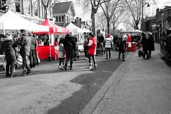 Kew Village Market (hansziel99) Tags: street uk greatbritain red people kewgardens streetart london kew europe market streetphotography fujifilm february markt februar 2016 silkypix selectivecolors xt10 fujifilmxt10