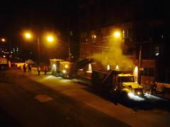 DOT Milling Riverdale Avenue, Bronx (Armenoush) Tags: nyc newyorkcity night bronx dumptruck dot paving trucks asphalt hardwork flatbed milling heavyduty riverdale nycdot heavydutytrucks