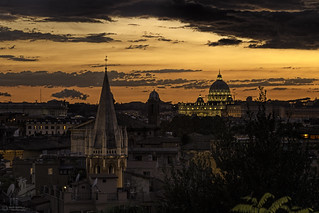 Rome Sunset over St Peter's