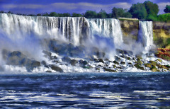 Falling waters.. (Sarah Fraser63) Tags: sky canada colour water niagarafalls waterfall sliderssunday