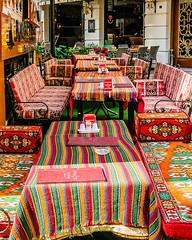 Restaurant (Explore) (Kevin R Thornton) Tags: street city travel turkey restaurant nikon stripes istanbul tr 2015 d90