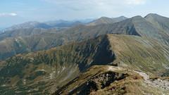 Widok na Tatry Zachodnie z Wołowca