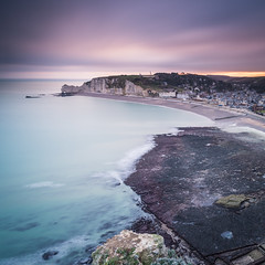 Sunrise at the beach of tretat (Vaidas M) Tags: france normandie fr tretat