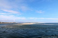 River meets the Ocean (mariaminhota) Tags: ocean travel tourism beach portugal water river spring sand bluesky atlanticocean esposende ofir 2015 northofportugal ilustrarportugal cávadoriver canoneos70d mariaminhotaphotography