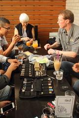 Tim Leatherman and Da Nang EDC group (dzungdad) Tags: show leatherman cafe tread danang multitool st300 rafew