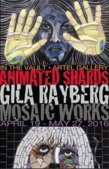 Animated Shards (Gila Mosaics n'stuff) Tags: art poster mosaic exhibit invitation artelgallery gilamosaics animatedshards