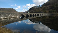 Garreg Ddu (myles1968) Tags: reflection water wales dam hydroelectric midwales elanvalley garregddu nokialumia