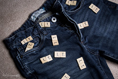 14/52 - It's In My Jeans (Forty-9) Tags: blue canon studio words flash saturday it jeans scrabble april efs1785mmf456isusm 52 week14 lightroom playonwords 2016 1452 strobist efslens strobism project52 yongnuo eos60d rookietom yongnuospeedliteyn560iv tomoskay 522016 project522016 02042016 itsinmyjeans 2ndapril2016