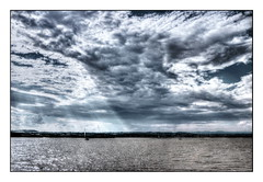 after the thunderstorm (kurtwolf303) Tags: sky lake water clouds landscape boats austria scenery europe 500v20f dramatic himmel wolken thunderstorm sunrays landschaft gewitter hdr sonnenstrahlen burgenland neusiedlersee segelboote 900views 250v10f unlimitedphotos canoneos600d kurtwolf303