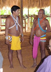 Chief on Left, Building Engineer on Right, Embera Indians, Jungles of Panama (Joseph Hollick) Tags: jungle panama embera emberaindians