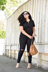 Laced Up (GirlWithCurves) Tags: target curlyhair whowhatwear laceuptop fashionblogger plussizeblogger taneshaawasthi curlyhairblogger bayareablogger