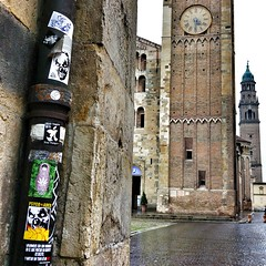 Parma, Italy (PSYCO ZRCS 10/12) Tags: street italy art graffiti sticker stickerart stickers vinyl pole worldwide collab slap parma smashed grilled tagging psyco bombing combo slaps stickerculture stickerporn stickerlife stayveganstayhungry