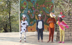 Cow, rooster and others (Nagarjun) Tags: school play bangalore amphitheatre kanishka kinu kanakpuraroad thevalleyschool