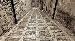 Ancient Street (Francesco Impellizzeri) Tags: street old white black monochrome lines canon ancient geometry sicily erice