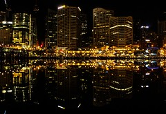 Darling Harbour. Sydney (Apertite) Tags: water architecture night boats harbour sydney australia darlingharbour yachts