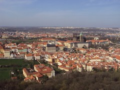 Praga - Prague (Matt Piro) Tags: city trees houses panorama tower alberi republic torre view czech prague cathedral basilica sony praga case vista petrin citt repubblica ceca