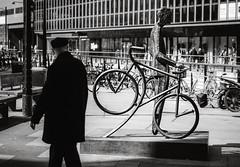 A Man and His Bike (Poul-Werner) Tags: sculpture denmark kunst skulptur dk danmark aarhus workofart kunstvrk centraldenmarkregion