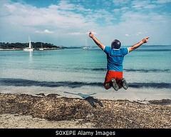 Photo accepted by Stockimo (vanya.bovajo) Tags: vacation holiday man male beach nature person one seaside jump jumping paradise alone adult weekend joy tourist friday tgif jumps iphone iphonegraphy stockimo