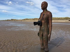 Keen photographer (Benjamico) Tags: sand photographer anthonygormley anotherplace crosbybeach