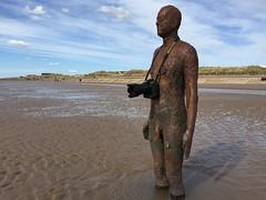 Keen photographer (Benjamico) Tags: sand photographer anthonygormley anotherplace crosbybeach