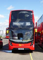 GAL EH57 - YX16OCO - BV BELVEDERE BUS GARAGE - THUR 28TH APR 2016 (Bexleybus) Tags: new bus london buses ahead garage go 400 belvedere dennis hybrid mmc bv enviro etb adl goahead eh57 yx16oco