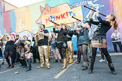 Detroit Party Marching Band (Viajante) Tags: music festival austin us concert texas unitedstates performance band