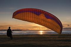 Backyard paragliding attempts (JanTimmons) Tags: sunset red orange alaska windy hues parasail paraglide cookinlet hanglide nikond700 jantimmons