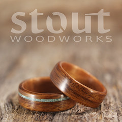 Santos Rosewood, Golden Koa and Turquoise (stoutwoodworks) Tags: wood wedding water one golden wooden engagement natural bend handmade turquoise grain band craft jewelry steam ring kind rings santos strong handcrafted steamed bent alternative lining stout 6mm ecofriendly inlay koa rosewood lined durable woodworks bentwood