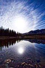 Crazy 8 (John Andersen (JPAndersen images)) Tags: lake mountains calgary night stars alberta cirrusclouds moonhalo bowvalleypark