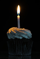 Celebrating Ten Million Views! Thanks! (Brand!n) Tags: candle cupcake icing
