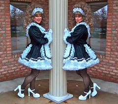 Twins (jensatin4242) Tags: sissy transvestite satin maid crossdresser petticoat frilly sissymaid jensatin