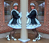 Twins (jensatin4242) Tags: sissy transvestite satin maid crossdresser petticoat frilly sissymaid jensatin