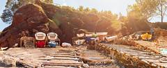 Port des Canonge 00044-Pano (Sebas Adrover) Tags: espaa costa primavera coast spring spain mediterranean sunny unesco es mallorca mediterrneo baleares balearic balears tramuntana illesbalears soleado serradetramuntana banyalbufar portdescanonge saserra