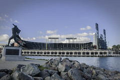 AT&T Park From McCovey Cove (Greatest Paka Photography) Tags: sanfrancisco park sports statue baseball sanfranciscobay chinabasin ballpark missionbay mccoveycove sanfranciscogiants williemccovey attpark greatestgiant