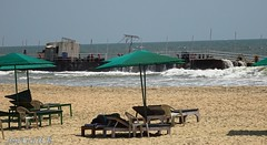 Grounded Pontoon at Arossim beach day 11 (joegoauk73) Tags: beach beds goa joegoauk arossim
