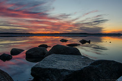 fire in the sky (paul noble photography) Tags: sunset colors reflections nikon flickr maine newengland rocky mysterious northeast noble standish sebago freelancephotographer sebagolake ruralmaine bigsebagolake nikond7000 mainephotographers paulnobleimages paulnoblephotography