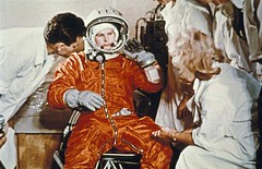 Valentina Tereshkova, the first woman in space, prepares for launch aboard Vostok 6, 1963. [1200x777] #HistoryPorn #history #retro http://ift.tt/1QDxavO (Histolines) Tags: woman 6 history for space first retro timeline launch vostok 1963 valentina prepares aboard tereshkova vinatage historyporn histolines 1200x777 httpifttt1qdxavo