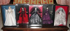 Complete Set- Haunted Beauty Collection (2012-2015) (Paul BarbieTemptation) Tags: beauty gold bride bill vampire zombie label ghost barbie haunted collection manor mistress greening