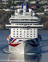 Britannia (Bergenships) Tags: cruise england norway norge ship po cruiseship bergen southampton skip fjords britannia cruiseships cruiseskip pocruises